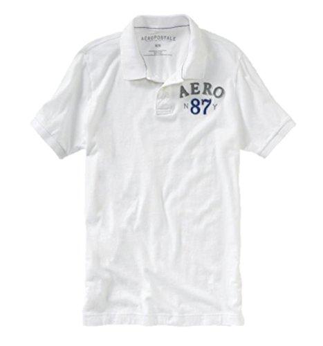 Aeropostale Mens Graphic Polo Shirt