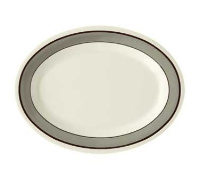 GET Enterprises inc Diamond Cambridge Melamine Oval Platter, 9.75 x 7.25 inch -- 24 per case.