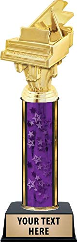 Crown Awards Piano Trophies, Personalized Purple Piano Trophy with Custom Engraving ()
