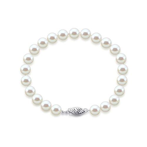 akwaya Femme 14K 8.0-9.0mm Bracelet Longueur 21,6cm-AAA