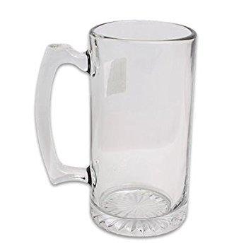 1 piece of 26.5oz LIBBEY DIAMOND BOTTOM CLEAR GLASS BEER MUG