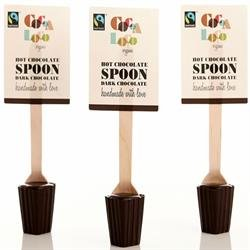 Cocoa Loco - Fairtade & Organic Dark Hot Chocolate Spoon - 30g