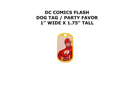 The Flash DC Comics Cartoon Theme Logo Dog Tag Keychain Party Favor