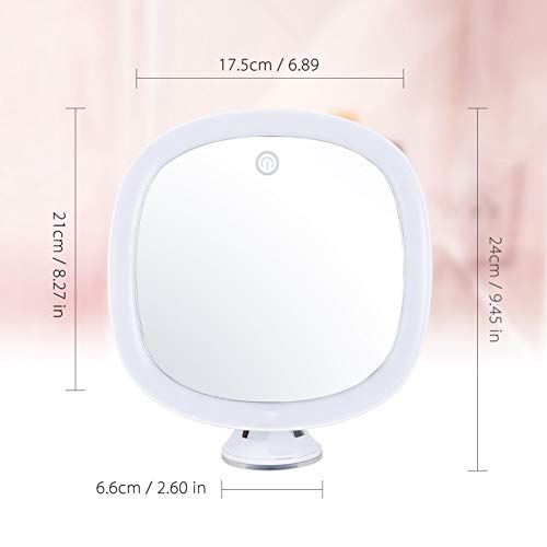 WISREMT Bathroom Led Makeup Mirror, Touch Sensor Light Control 360° Rotatable Cosmetic Mirror (Ship from USA)