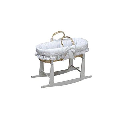 BabyDoll Satin Trim Pique Baby Moses Basket