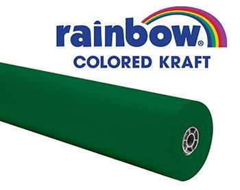 Rainbow Kraft 353000 Duo-Finish Kraft Light-Weight Paper Roll, 36 in x 100 ft,  ()