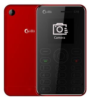 Chilli C08 Credit Card Sized Mobile Phone [ Rich Red ] WireZone
