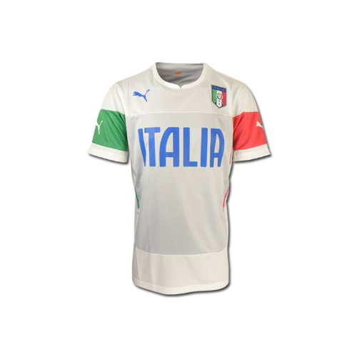 Puma FIGC Italy Training Jersey World Cup 2014 White (M) (Italy Training Jersey)