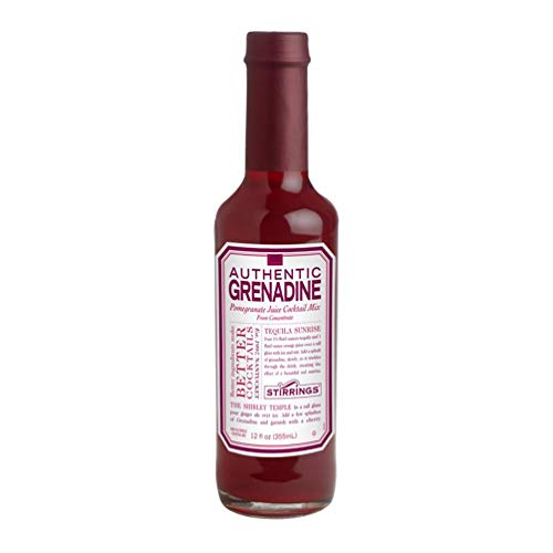 Stirrings Authentic Grenadine Cocktail Mixer, 12 Ounce | Pack of 1