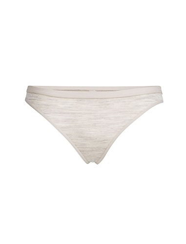 Wool Knickers - Icebreaker Merino Women's Siren Thong, Fawn HTHR/Fawn HTHR, Small