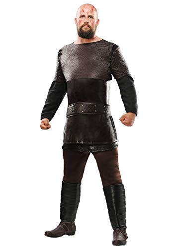 Vikings Ragnar Lothbrok Men's Costume Large Brown -