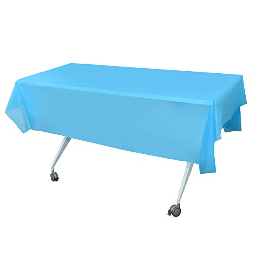 NKTM 12-Pack Disposable Plastic Tablecloth 54in...