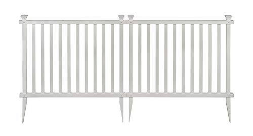 - Zippity Outdoor Products ZP19037 Baskenridge Fence, White