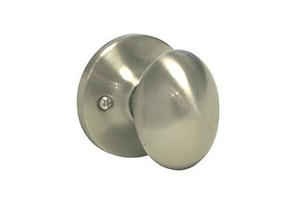 Satin Nickel Dummy Single Closet Door Oval Egg Style Knob Handle 6093DC