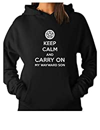 TeeStars - Keep Calm and Carry On My Wayward Son Women Hoodie