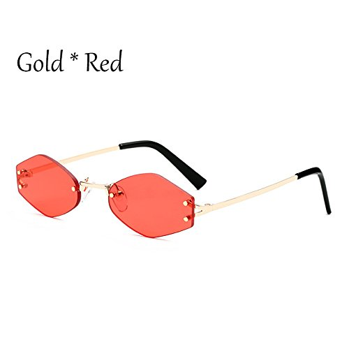 Pequeño Negra Reborde Señoras Uv354 Lente Sol Moda Gafas Cuadrado Tonos G Red Lens C1 De TIANLIANG04 C4 Gafas 65qgdgw