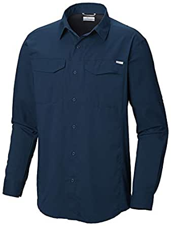 Columbia Men's Silver Ridge Lite Long Sleeve Shirt, Petrol Blue, Small