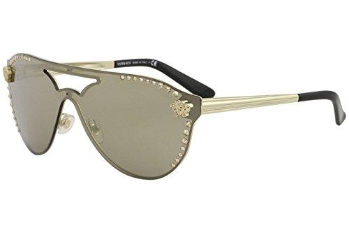 Gold 42 Gafas 12525a De 0ve2161b lightbrownmirrordarkgold Versace pale Mujer Dorado Sol qwzpIEtg