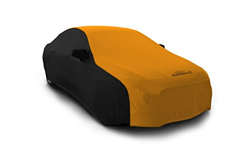 Coverking Custom Fit Car Cover for Select BMW 5 Series Models - Satin Stretch (Rust Orange with Black sides)
