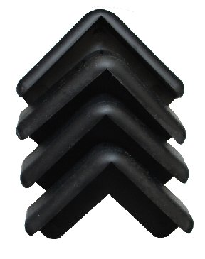 Boing Safety Mini Corner Guards - 20 Count Pack (Black)
