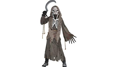 Shrieking Grim Reaper Halloween Costume for Boys, Small, with Included Accessories, by Amscan