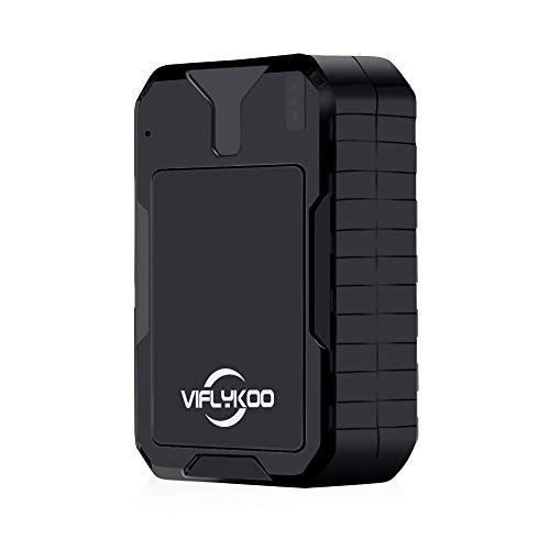 SoundVoice GPS Tracker, VIFLYKOO No Monthly Fee Real Time GPS Tracker for Vehicle, Waterproof Magnetic GPS Tracker Real Time Personal for Vehicle Anti-Theft/Teen Driving