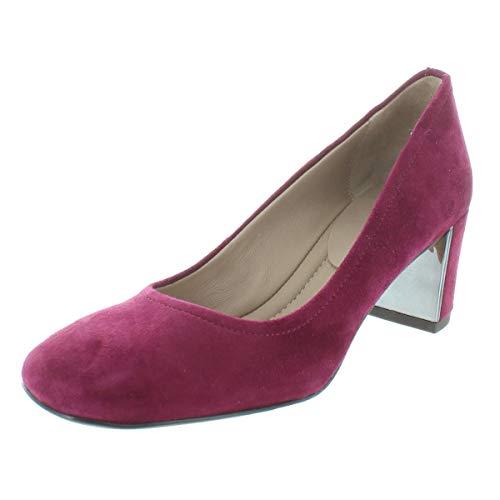 Donald J. Pliner Womens Corin Suede Heels Pumps Red 6.5 Medium (B,M)