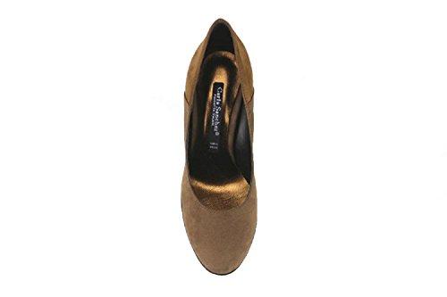 Chaussures Femme CARLA SANCHEZ Escarpins marron beige daim AJ679