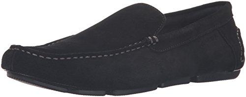 Calvin Klein Men's Menton Suede Slip-On Loafer, Black, 10.5 M US (Men Casual Loafers)