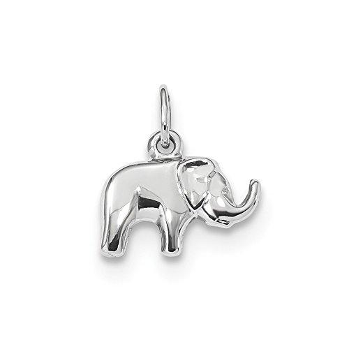 14k Gold Elephant Charm (14k White Gold Elephant Charm)