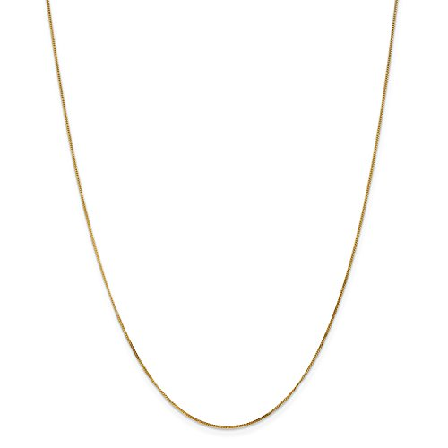 Pendant 18' Curb Chain (Roy Rose Jewelry 14K Yellow Gold .9mm Curb Pendant Chain Necklace ~ Length 18'' inches)