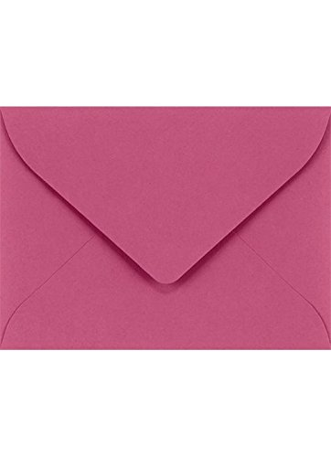 #17 Mini Gift Card Envelopes (2 11/16 x 3 11/16) - Magenta (50 Qty.) | Perfect for the Holidays, Holding Place Cards, Gift Cards, Notes, and Flower Arrangement Cards |EXLEVC-10-50