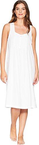 (Carole Hochman Women's Textured Woven Waltz Gown, White Stripe, M)