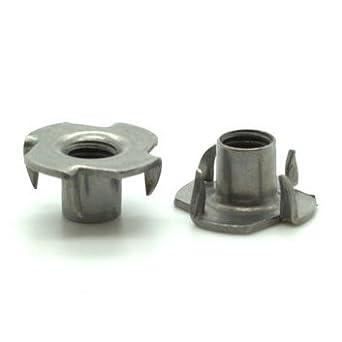 M8//& M10 inserts filet/és /à griffes pour bois fixations en acier pour meubles /écrous de verrouillage Lot de 25//écrous en T en m/étal/: M6 M6 1