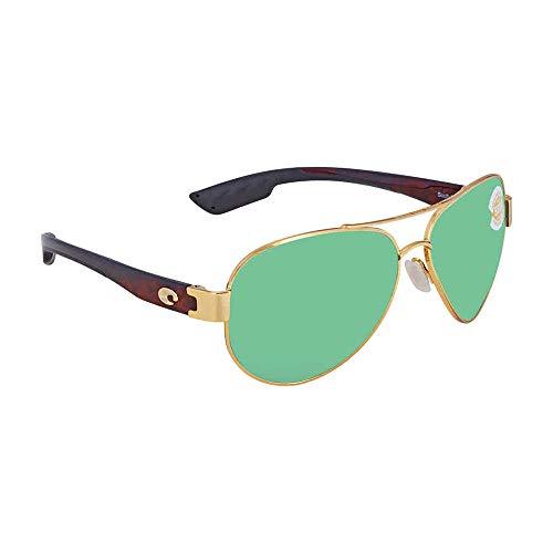 Costa del Mar South Point Polarized Iridium Aviator Sunglasses, Gold, 59.0 ()