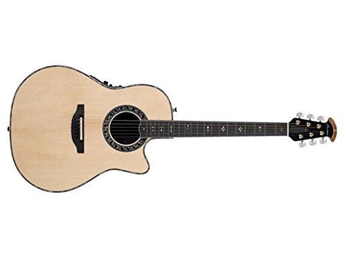Ovation American LX Series 6 String Acoustic-Electric Guitar, Right, Natural (C2079LX-4) (Adamas Acoustic Electric Guitar)