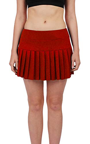 Womens Tennis Pleated Skorts Golf Workout High Waist Biult in Skirts Sports Active Wear with Pockets - Court Center Dress