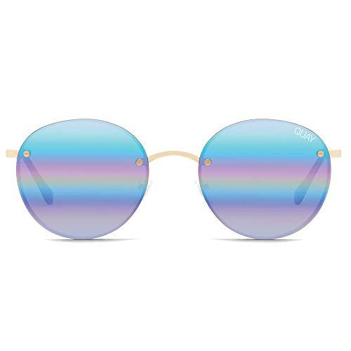 Quay Women's Farrah Sunglasses, Gold/Purple, One ()