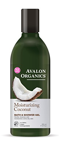 Avalon Organics Moisturizing Coconut Bath & Shower Gel, 12 (Avalon Coconut)