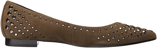 Frye Womens Sienna Multi Stallone Balletto In Camoscio Color Kaki