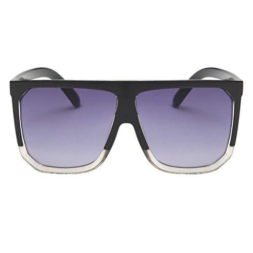 Oversize Designe Soleil Vintage Lunettes violet de Carré transparent Femme MagiDeal 0fgxSf
