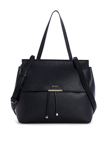 GUESS Varsity Pop Top Handle Flap, Black/Multi (Guess Sonnenbrille Rosa)