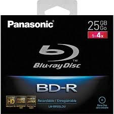 Panasonic LM-BR25LDU Single Layer 25GB Blu-Ray Disc with Hang Tab