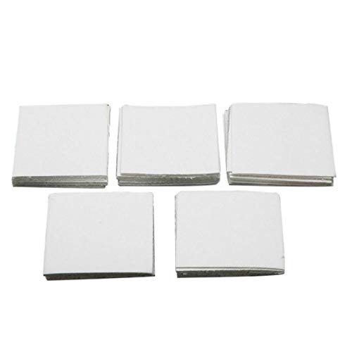 Gaetooely 50 Sheets Ceramic Fiber Square Microwave Kiln Glass Fusing Paper Household Tools