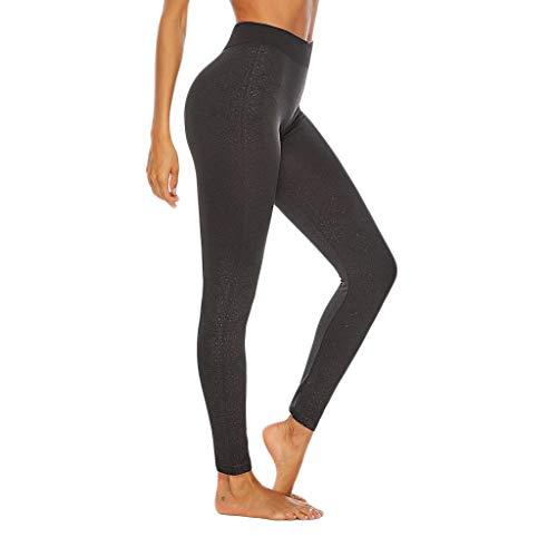 KLGDA High Waist Yoga Capris Leggings Workout Running Pants Casual Tights for Squat Proof Black