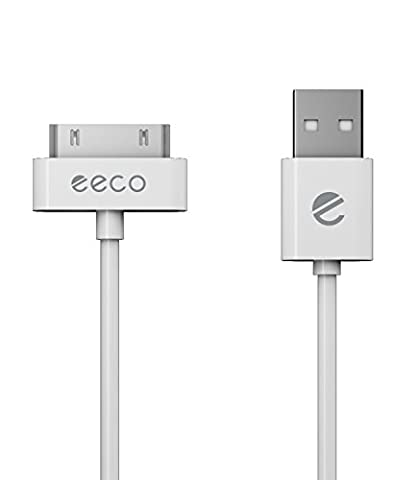 eeco Apple MFi Certified 6ft iPhone 4/4s Charger Cable, iPhone 3G/3GS, iPad 1/2/3, iPod Touch 1/2/3/4, iPod 5th Gen, iPod Classic, iPod Nano 1/2/3/4/5/6 (White) (Ipod 5th Generation Charges)