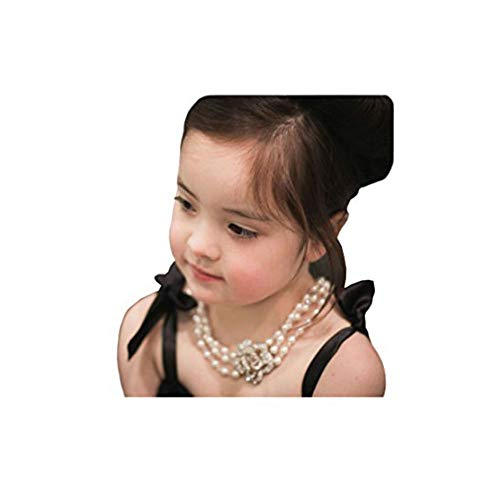 (Necklace, Audrey Hepburn - Breakfast at Tiffany's, Multi Strand Pearl Necklace (Girls' Size, 2 - 7 yrs.))