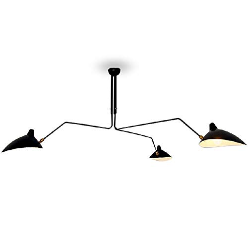 (L.HPT 3/5/6-light Simple Pendant Lights Ceiling Indoor Lighting Vintage Retro Lamp for E27 Bulbs Room Bar Decoration (Bulb Not Included),3light)