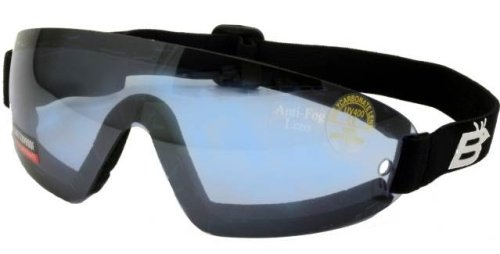 New Birdz Wing Skydive Parasail Goggles Reduced Glare Blue Lens