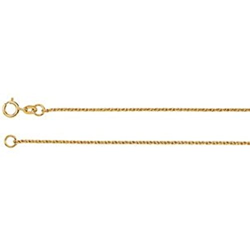 - 14K Yellow Gold Twisted Wheat Chain